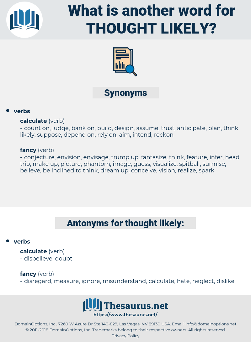 thought likely, synonym thought likely, another word for thought likely, words like thought likely, thesaurus thought likely