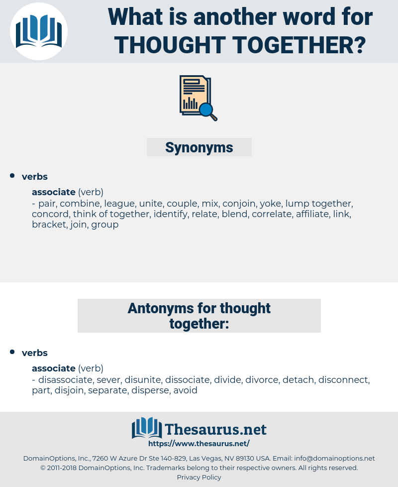 thought together, synonym thought together, another word for thought together, words like thought together, thesaurus thought together