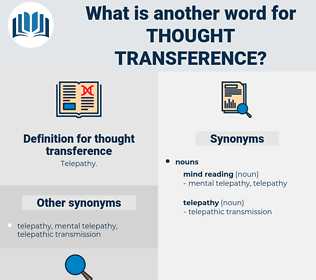 thought transference, synonym thought transference, another word for thought transference, words like thought transference, thesaurus thought transference