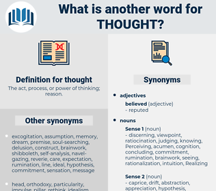 thought, synonym thought, another word for thought, words like thought, thesaurus thought