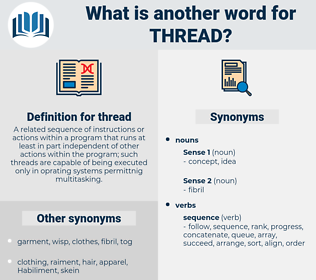 thread, synonym thread, another word for thread, words like thread, thesaurus thread
