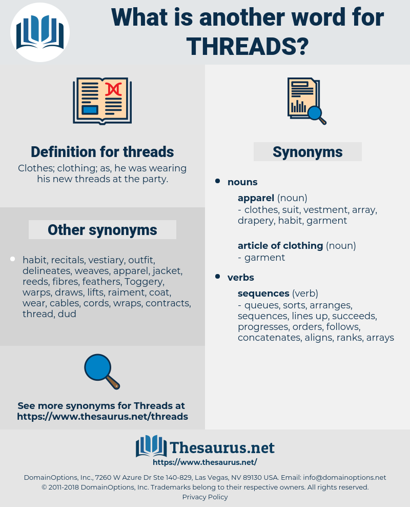 threads, synonym threads, another word for threads, words like threads, thesaurus threads
