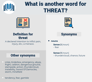 threat, synonym threat, another word for threat, words like threat, thesaurus threat