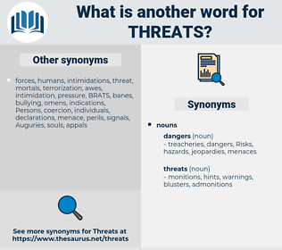 threats, synonym threats, another word for threats, words like threats, thesaurus threats