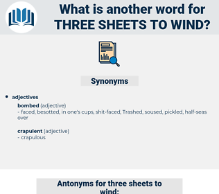 three sheets to wind, synonym three sheets to wind, another word for three sheets to wind, words like three sheets to wind, thesaurus three sheets to wind