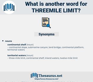 threemile limit, synonym threemile limit, another word for threemile limit, words like threemile limit, thesaurus threemile limit