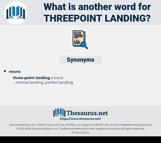 threepoint landing, synonym threepoint landing, another word for threepoint landing, words like threepoint landing, thesaurus threepoint landing