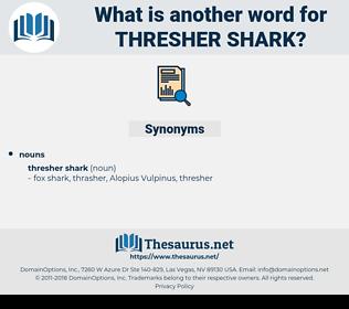 thresher shark, synonym thresher shark, another word for thresher shark, words like thresher shark, thesaurus thresher shark