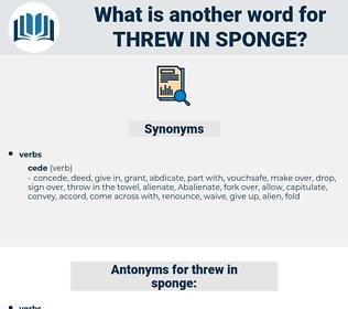 threw in sponge, synonym threw in sponge, another word for threw in sponge, words like threw in sponge, thesaurus threw in sponge