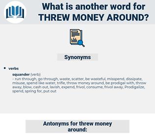 threw money around, synonym threw money around, another word for threw money around, words like threw money around, thesaurus threw money around