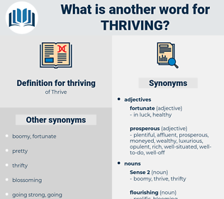 thriving, synonym thriving, another word for thriving, words like thriving, thesaurus thriving