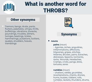 throbs, synonym throbs, another word for throbs, words like throbs, thesaurus throbs
