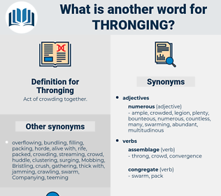 Thronging, synonym Thronging, another word for Thronging, words like Thronging, thesaurus Thronging