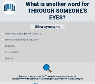 through someone's eyes, synonym through someone's eyes, another word for through someone's eyes, words like through someone's eyes, thesaurus through someone's eyes