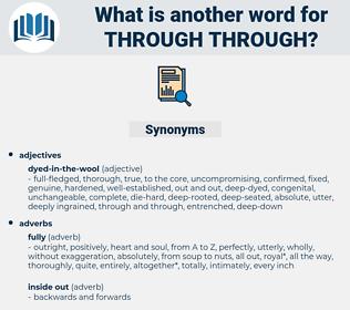 through through, synonym through through, another word for through through, words like through through, thesaurus through through