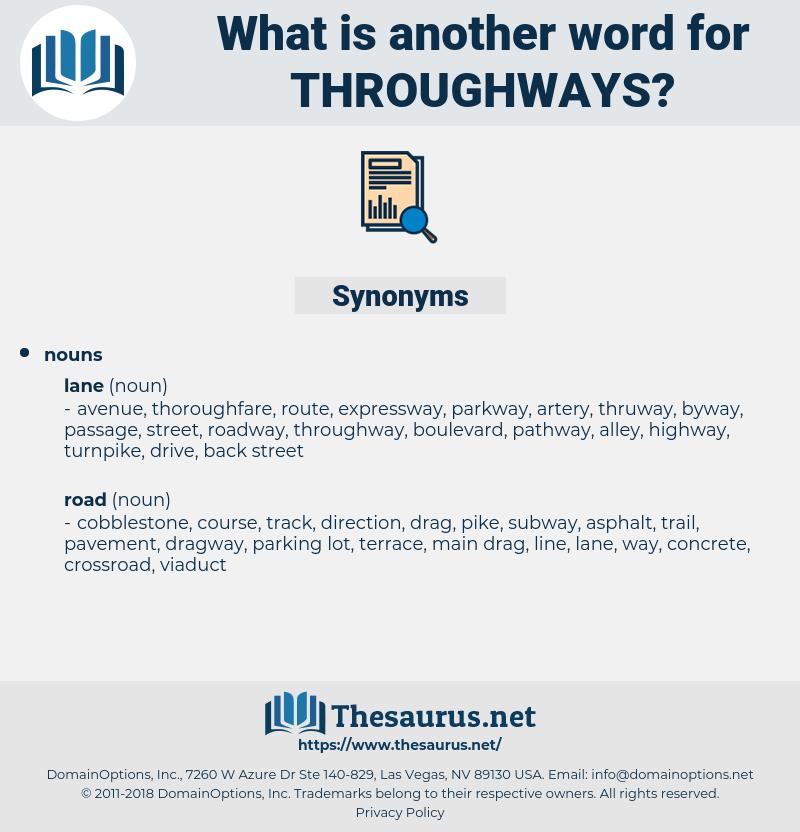 throughways, synonym throughways, another word for throughways, words like throughways, thesaurus throughways