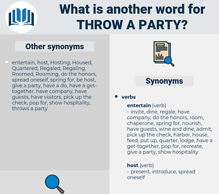throw a party, synonym throw a party, another word for throw a party, words like throw a party, thesaurus throw a party