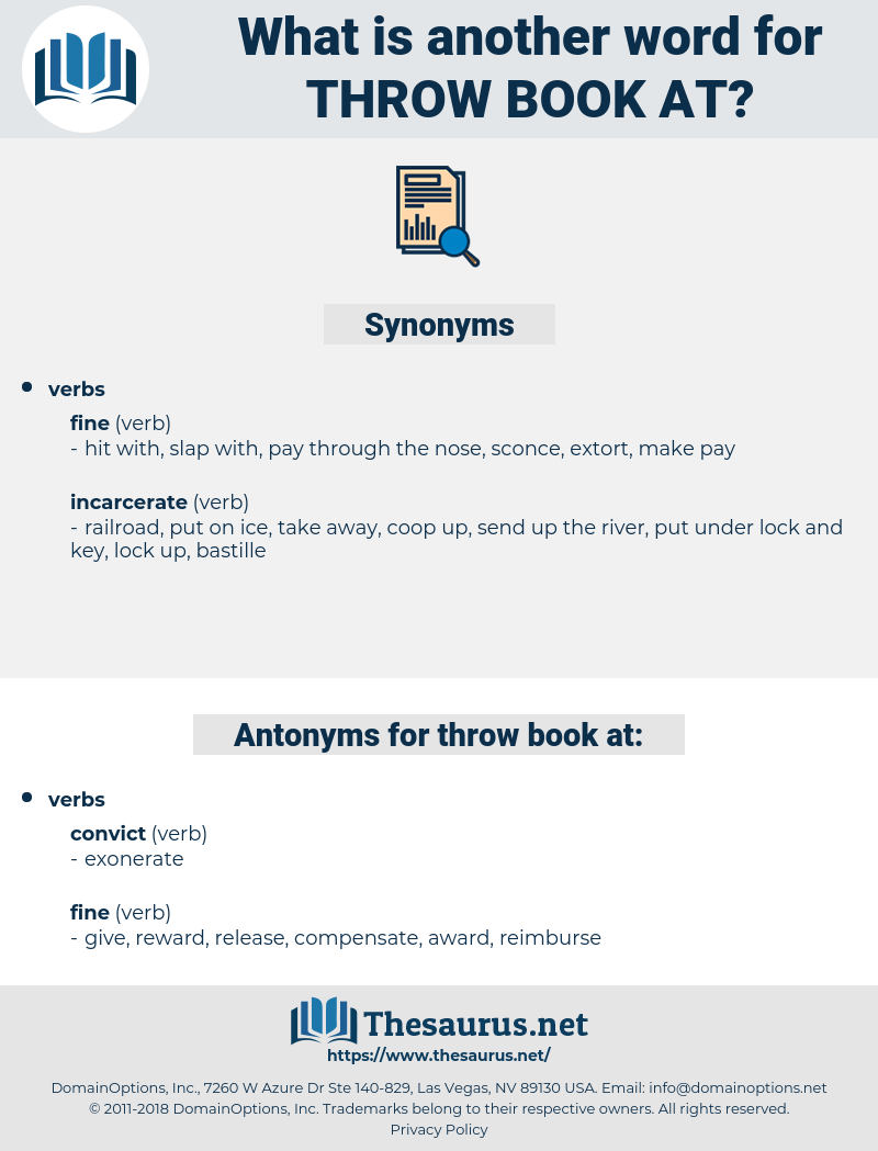 throw book at, synonym throw book at, another word for throw book at, words like throw book at, thesaurus throw book at