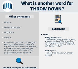 throw down, synonym throw down, another word for throw down, words like throw down, thesaurus throw down