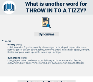 throw in to a tizzy, synonym throw in to a tizzy, another word for throw in to a tizzy, words like throw in to a tizzy, thesaurus throw in to a tizzy