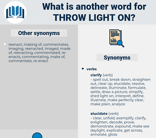 throw light on, synonym throw light on, another word for throw light on, words like throw light on, thesaurus throw light on