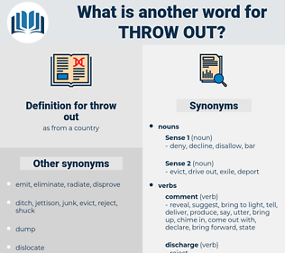 throw out, synonym throw out, another word for throw out, words like throw out, thesaurus throw out