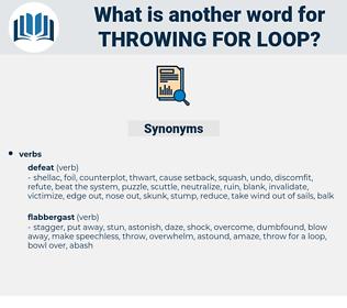 throwing for loop, synonym throwing for loop, another word for throwing for loop, words like throwing for loop, thesaurus throwing for loop