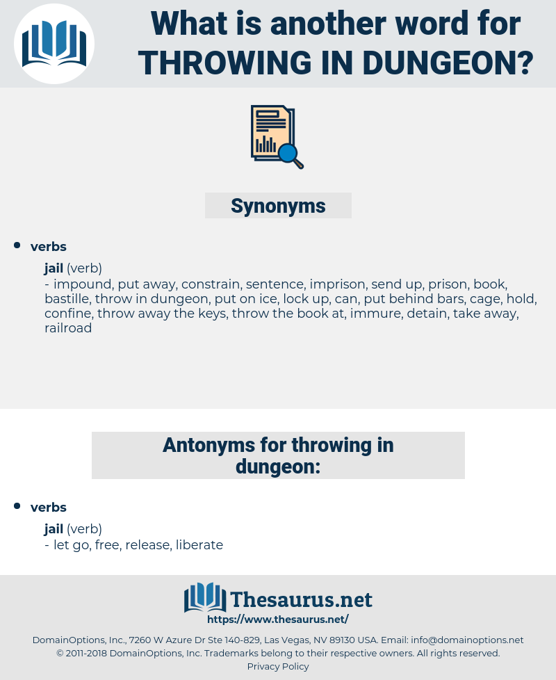 throwing in dungeon, synonym throwing in dungeon, another word for throwing in dungeon, words like throwing in dungeon, thesaurus throwing in dungeon