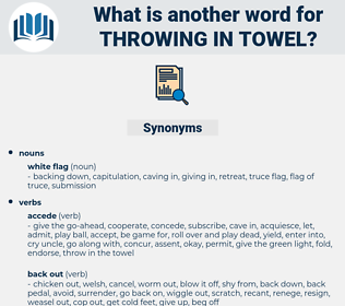 throwing in towel, synonym throwing in towel, another word for throwing in towel, words like throwing in towel, thesaurus throwing in towel
