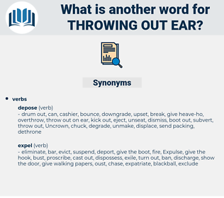 throwing out ear, synonym throwing out ear, another word for throwing out ear, words like throwing out ear, thesaurus throwing out ear