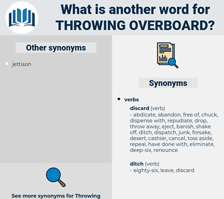 throwing overboard, synonym throwing overboard, another word for throwing overboard, words like throwing overboard, thesaurus throwing overboard
