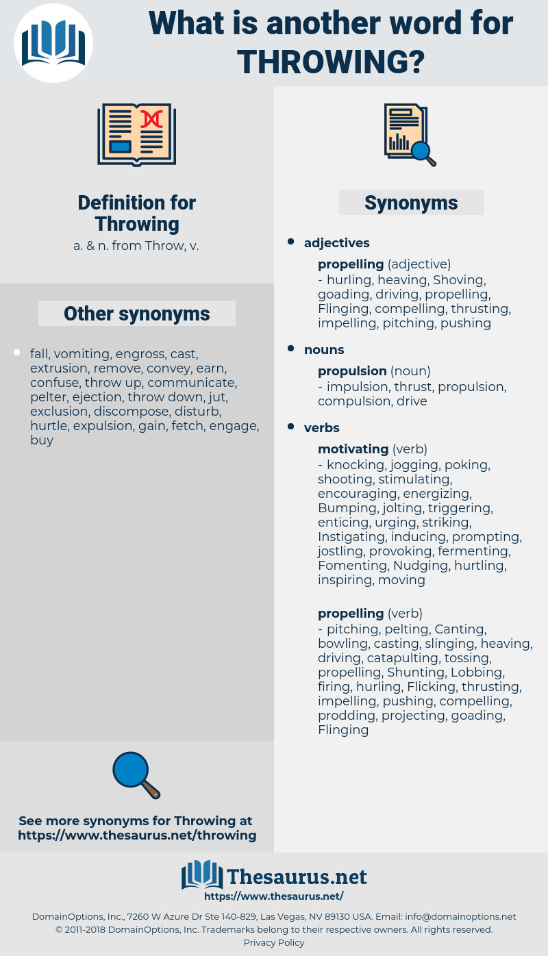 Throwing, synonym Throwing, another word for Throwing, words like Throwing, thesaurus Throwing