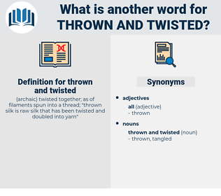 thrown and twisted, synonym thrown and twisted, another word for thrown and twisted, words like thrown and twisted, thesaurus thrown and twisted