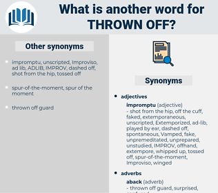 thrown off, synonym thrown off, another word for thrown off, words like thrown off, thesaurus thrown off