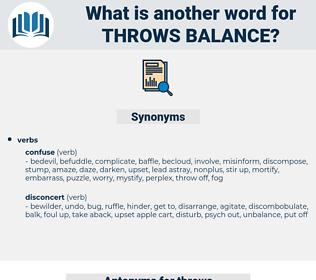 throws balance, synonym throws balance, another word for throws balance, words like throws balance, thesaurus throws balance