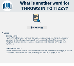 throws in to tizzy, synonym throws in to tizzy, another word for throws in to tizzy, words like throws in to tizzy, thesaurus throws in to tizzy