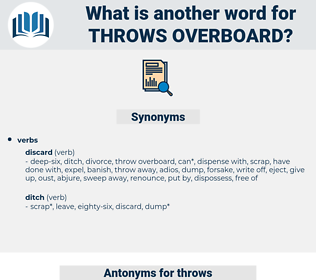 throws overboard, synonym throws overboard, another word for throws overboard, words like throws overboard, thesaurus throws overboard