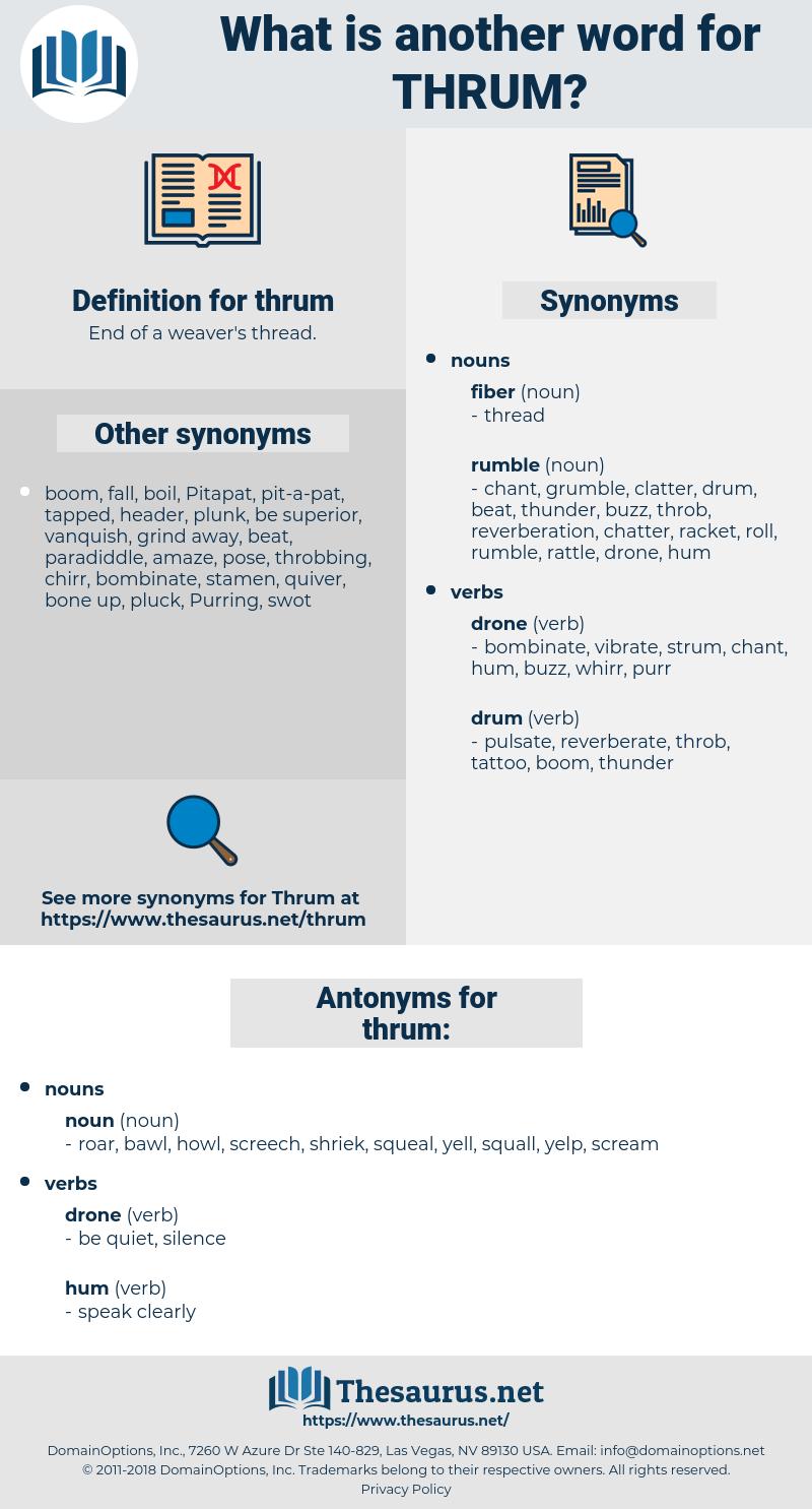 thrum, synonym thrum, another word for thrum, words like thrum, thesaurus thrum