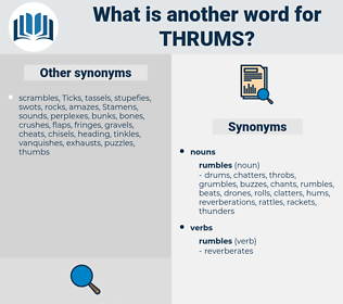 thrums, synonym thrums, another word for thrums, words like thrums, thesaurus thrums