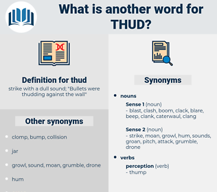 thud, synonym thud, another word for thud, words like thud, thesaurus thud