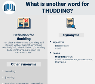 thudding, synonym thudding, another word for thudding, words like thudding, thesaurus thudding