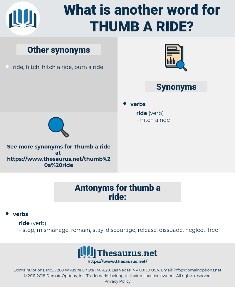 thumb a ride, synonym thumb a ride, another word for thumb a ride, words like thumb a ride, thesaurus thumb a ride
