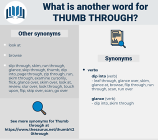 thumb through, synonym thumb through, another word for thumb through, words like thumb through, thesaurus thumb through