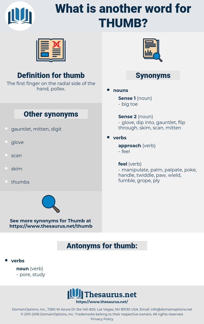 thumb, synonym thumb, another word for thumb, words like thumb, thesaurus thumb
