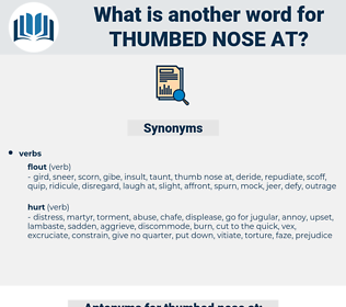 thumbed nose at, synonym thumbed nose at, another word for thumbed nose at, words like thumbed nose at, thesaurus thumbed nose at