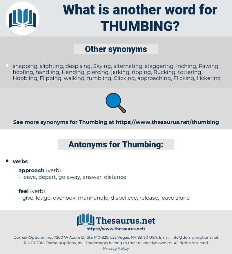 Thumbing, synonym Thumbing, another word for Thumbing, words like Thumbing, thesaurus Thumbing