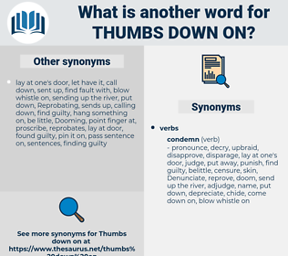 thumbs down on, synonym thumbs down on, another word for thumbs down on, words like thumbs down on, thesaurus thumbs down on