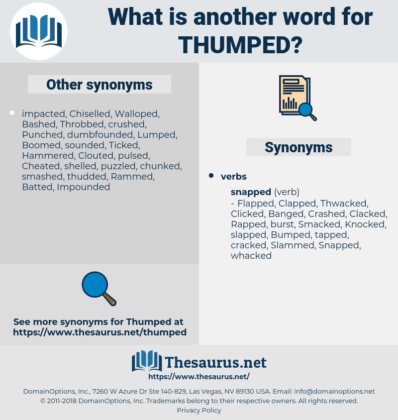 Thumped, synonym Thumped, another word for Thumped, words like Thumped, thesaurus Thumped