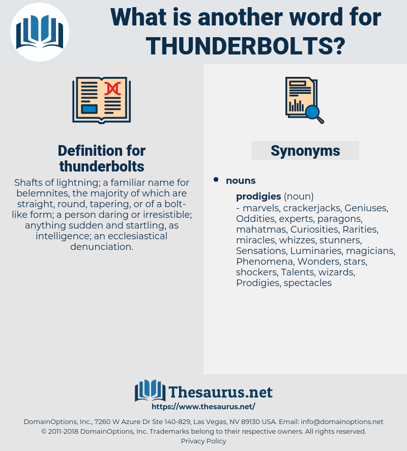 thunderbolts, synonym thunderbolts, another word for thunderbolts, words like thunderbolts, thesaurus thunderbolts