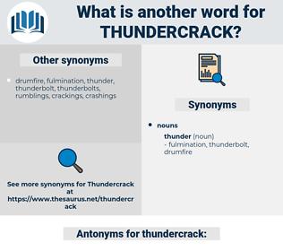 thundercrack, synonym thundercrack, another word for thundercrack, words like thundercrack, thesaurus thundercrack